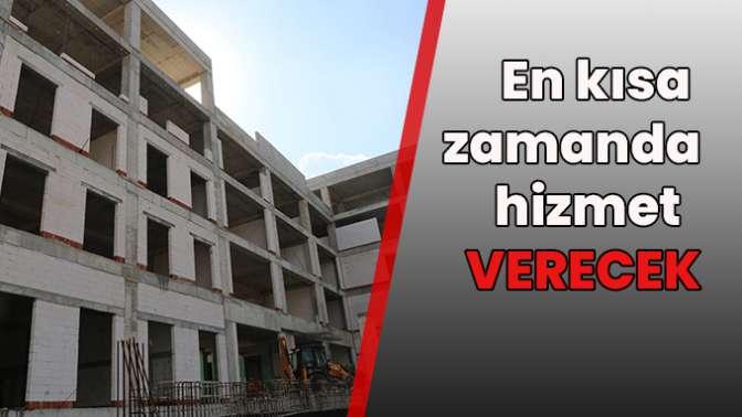 Başkan Turan, yeni hizmet binası inşaatında incelemelerde bulundu.