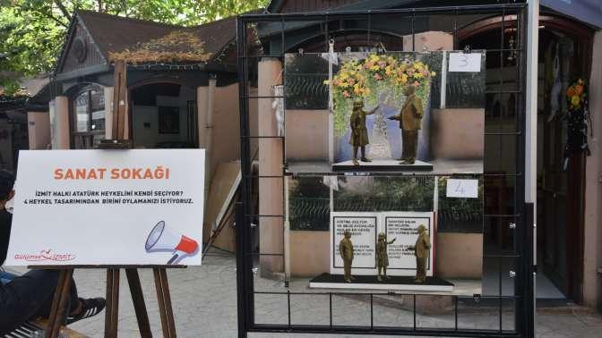 Çalınan Atatürk heykelinin yenisini İzmit halkı seçecek