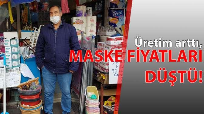 Maske fiyatları düştü