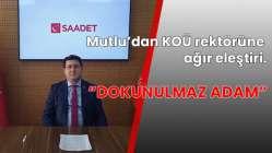 """""""Kocaeli Üniversitesini ODTÜ yapacağım"""" demişti..."""