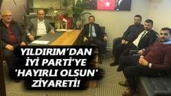 Yıldırım'dan İYİ Parti'ye 'hayırlı olsun' ziyareti