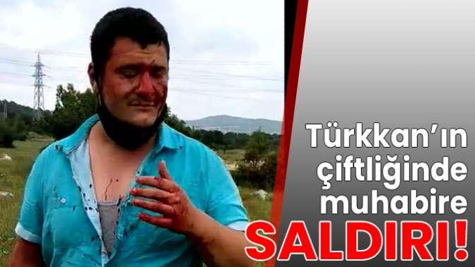 Türkkanın çiftliğinde muhabire saldırı!