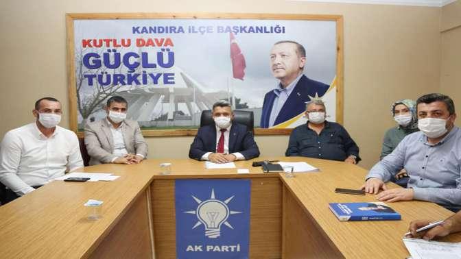 Ak Parti Kandıra'da kongre sonrası ile toplantı