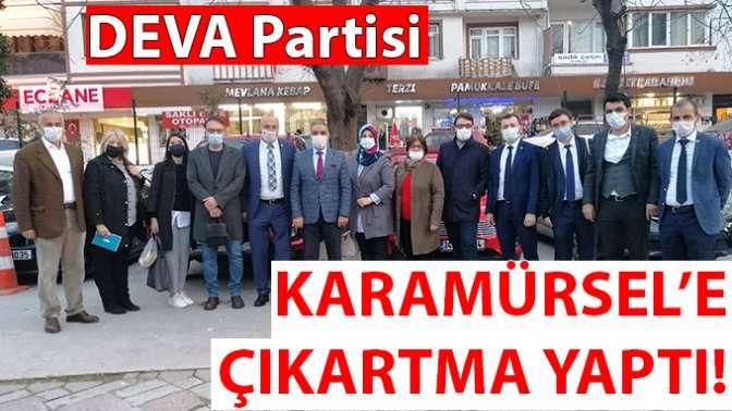 DEVA Partisi Karamürsel'e Çıkartma Yaptı