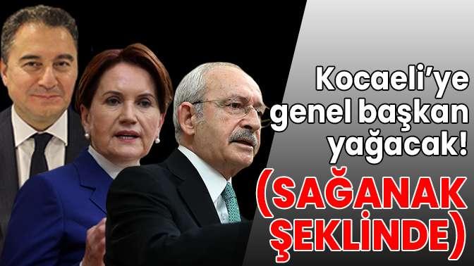 Kocaeli'ye genel başkan yağacak!