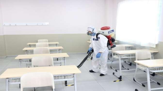 LGS sınavı için okullar dezenfekte ediliyor